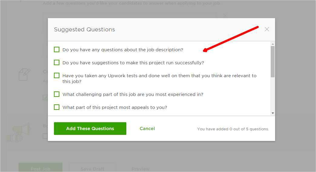 Upwork Proposal Question and Answer