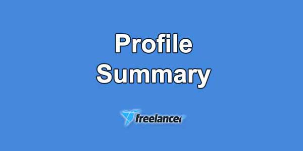 freelancer profile summary