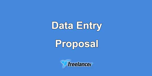 Data Entry Proposal Sample