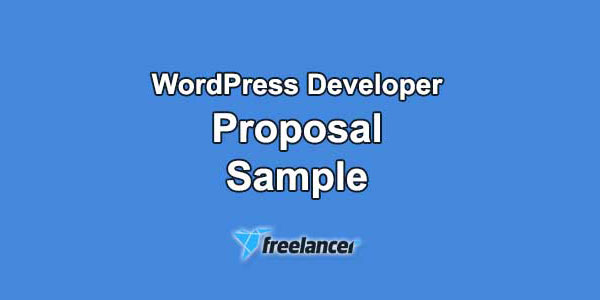 Freelancer Proposal Sample for WordPress Developer