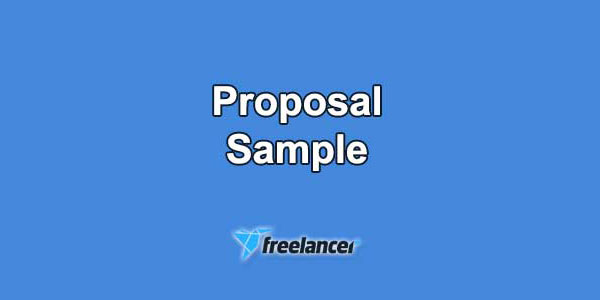Freelancer Proposal Samples and Examples